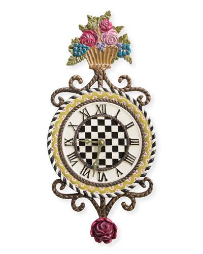 Flower Basket Clock