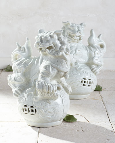 Vintage Foo Dogs, 2-Piece Set