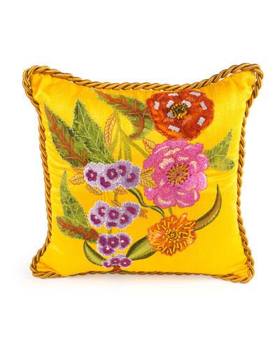 Garden Show Marigold Pillow