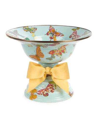 Sky Butterfly Garden Large Compote
