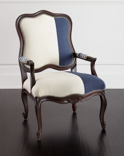 Madison Colorblock Bergere Chair