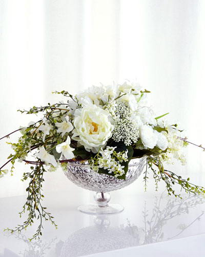 Cascading Bouquet Faux-Floral Arrangement