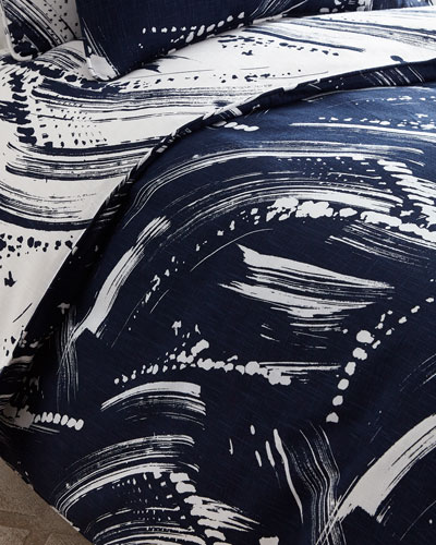 Queen Brushstroke Duvet Cover