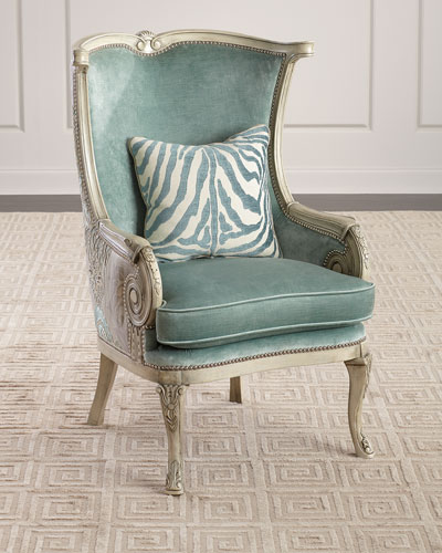 Surprising Linen Nailhead Furniture Horchow Com Ocoug Best Dining Table And Chair Ideas Images Ocougorg