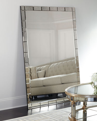 silver floor mirror. quick look. prodselect checkbox. benedict floor mirror silver
