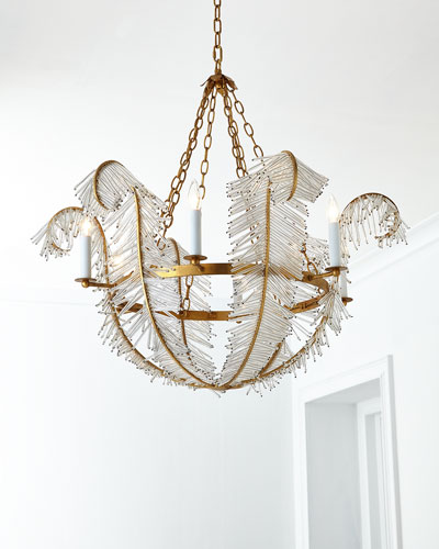 Feather 6-Light Chandelier