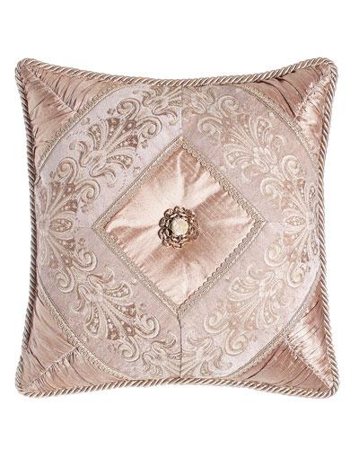 Dahlia Pillow with Rosette, 18