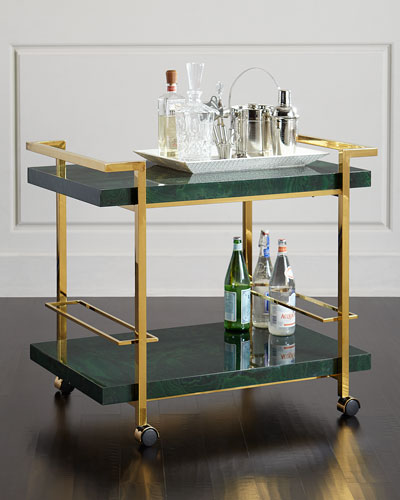 Jolie Brass Bar Cart