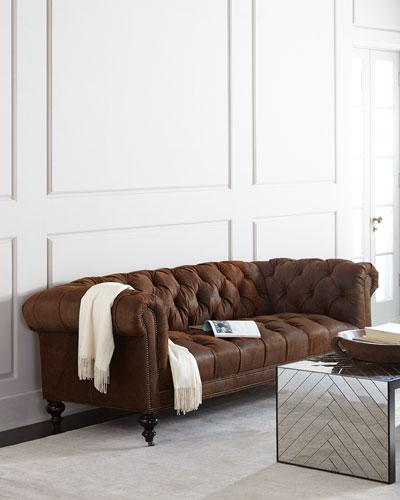 Brown Sleek Living Room Furniture