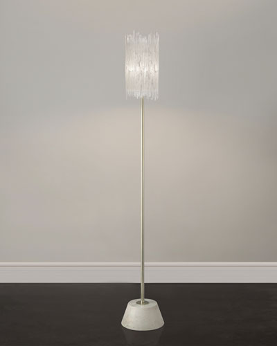 Selenite Floor Lamp