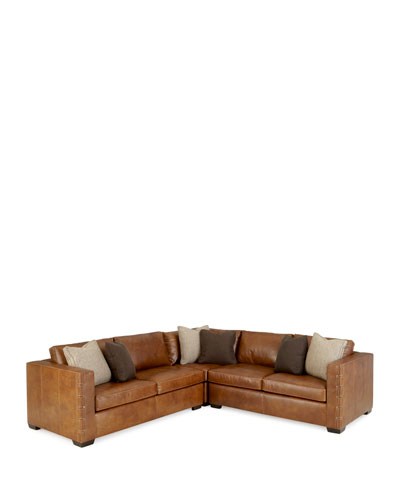 Renaldo 3-Piece Leather Sectional