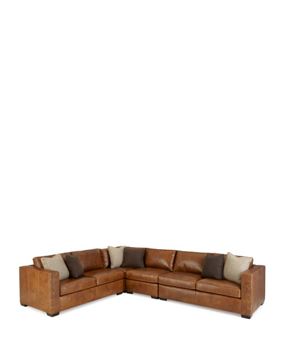 Renaldo 4-Piece Leather Sectional