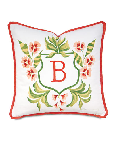 Coconut Grove Monogrammed Pillow, 18