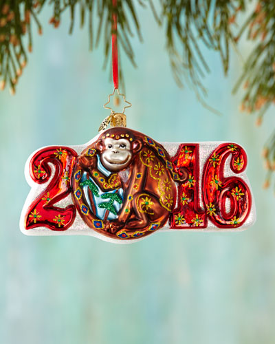 Year of the Monkey Christmas Ornament