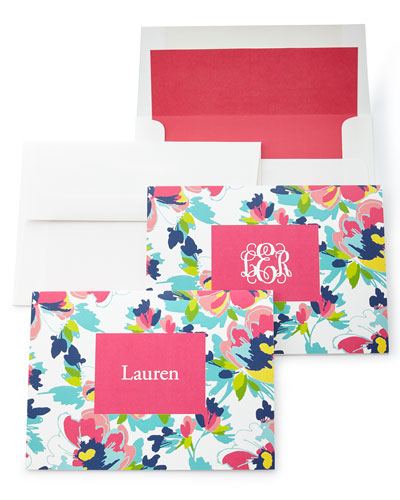 Carrie Floral Folded Notes with Plain Envelopes