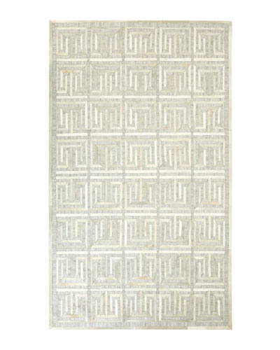 Sterling Greek-Key Rug, 9'6