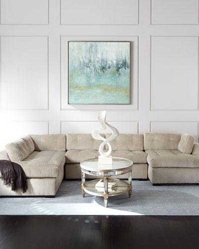 Nailhead Trim Tufted Sofa