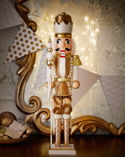 Winter White & Gold Nutcracker
