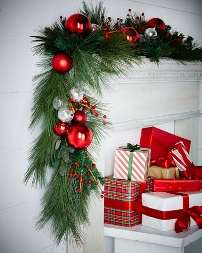 Classic Red & Green 6' Garland