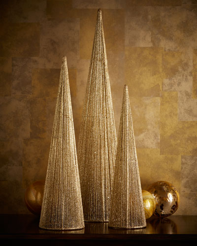 Small Wire Christmas Trees, 3-Piece Set