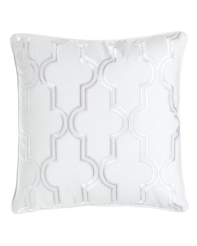 Geo Embroidered Pillow, 16