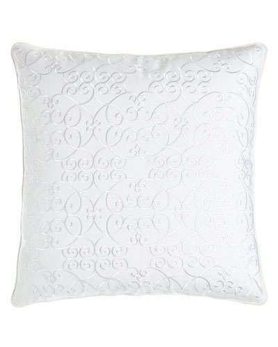 Scroll Embroidered Pillow, 20