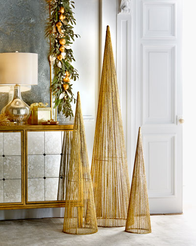 Large Wire Christmas Trees, 3-Piece Set