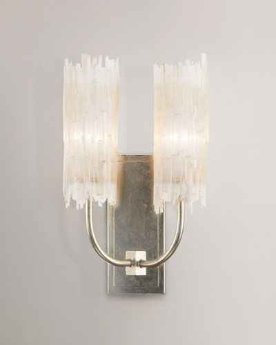 Selenite Double Wall Sconce