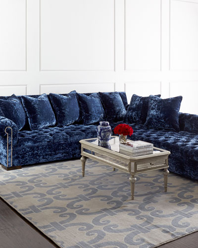 Terrific Haute House Blue Velvet Furniture Horchow Com Onthecornerstone Fun Painted Chair Ideas Images Onthecornerstoneorg