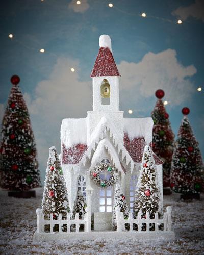 Vintage-Style Christmas Church
