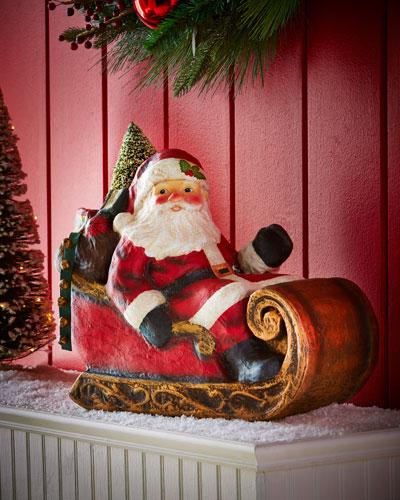 Santa in Sleigh Figure