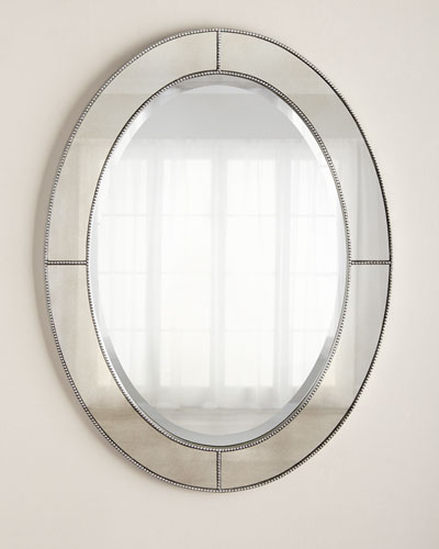 Oval Beaded Mirror