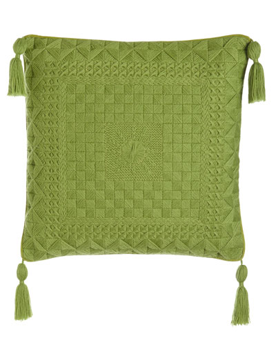 Capistrano Green Bargello Pillow
