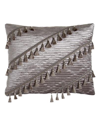 Geordi Pleated Velvet Pillow, 16