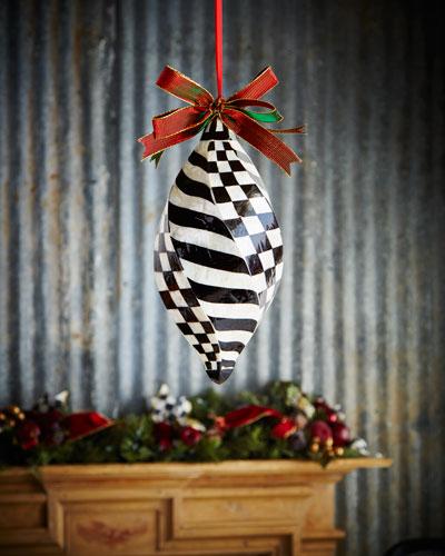 Jumbo Swirl Capiz Christmas Ornament