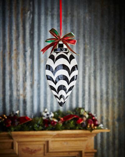 Jumbo Drop Capiz Christmas Ornament