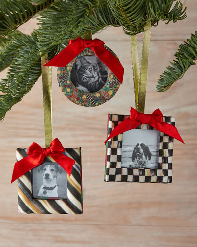 Frame Christmas Ornaments, 3-Piece Set