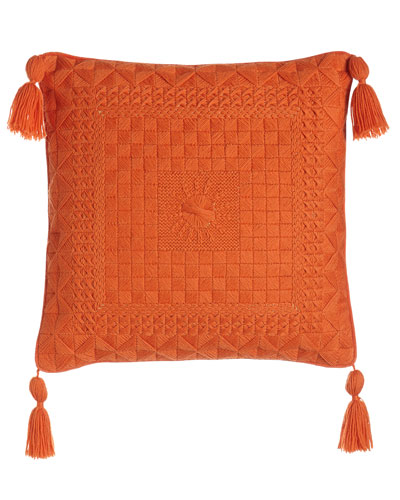 Caribbean Orange Bargello Pillow
