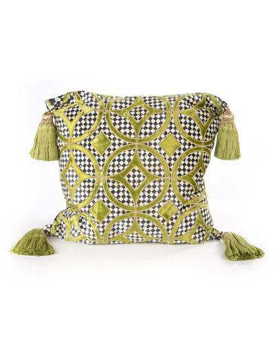 Chartreuse Florentine Pillow