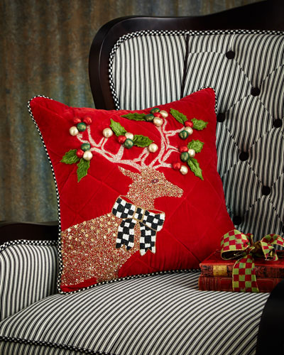 Jeweled Deer Pillow
