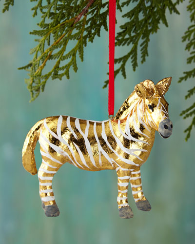 Fantastical Zebra Christmas Ornament