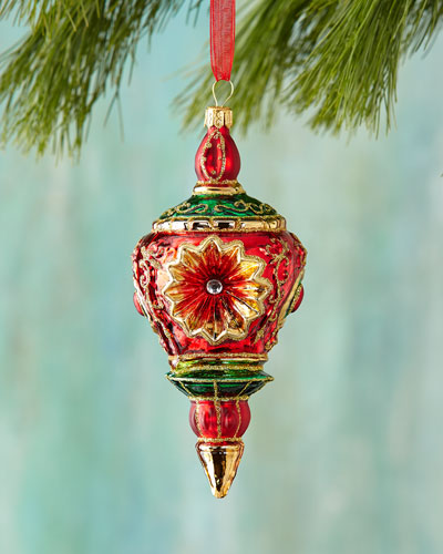 Reflector Finial Christmas Ornament