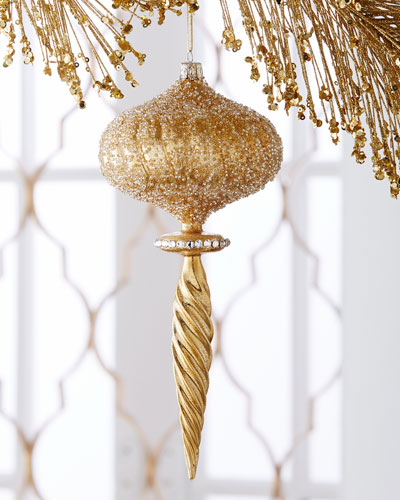 Golden Icicle Christmas Ornament
