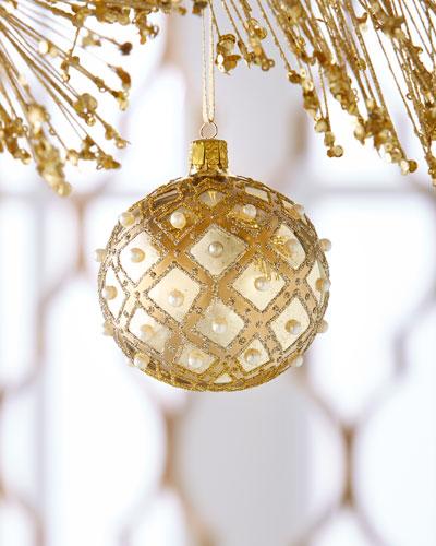 Shiny-Gold Ball Christmas Ornament