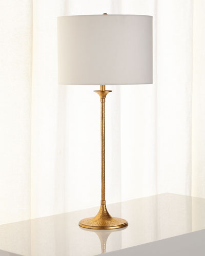 Tall Hammered Candlestick Lamp