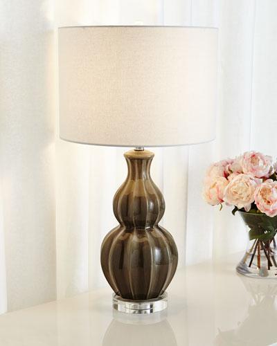 Taupe Peanut Lamp
