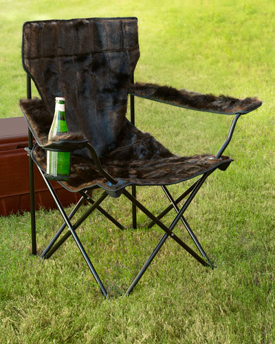 Faux-Fur Spectator Chair