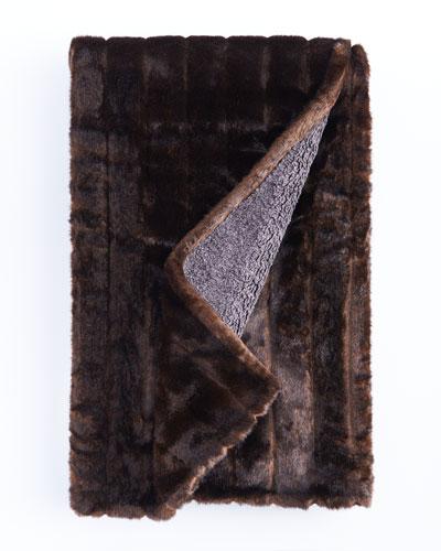 Faux-Fur and Fleece Throw