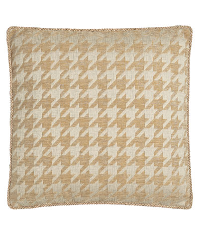 Janice Houndstooth Box Pillow, 18