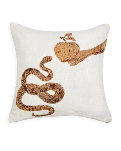 Muse Snake & Apple Pillow